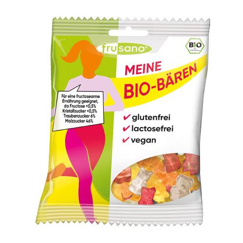Organic maltose and glucose gummi bears